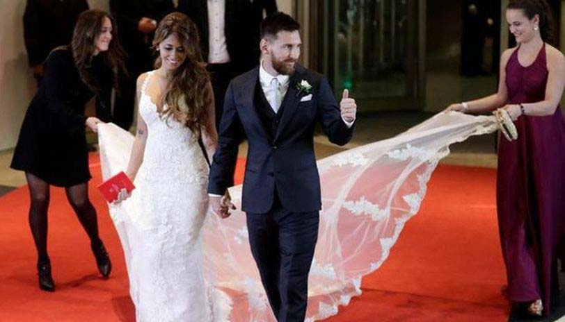 Lionel Messi Weds his fiancée Antonina Roccuzzo