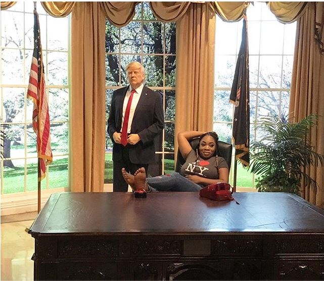 Moesha Boduong Meets President Trump And Other World Celebrities