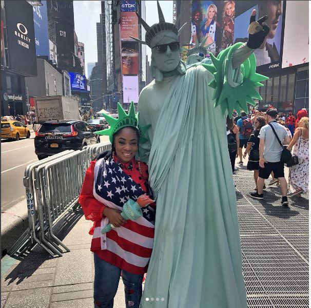 Moesha Boduong Meets President Trump And Other World Celebrities
