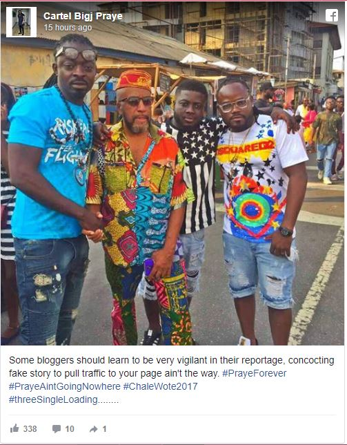 Praye Rubbishes Group Break-up Rumors