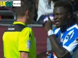 Friendly Match Goes Chaos As Sulley Muntari Mounted A Slap On Referee