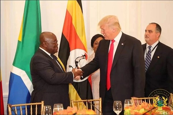 The Firm Handshake Between President Akufo-Addo And President Donald Trump