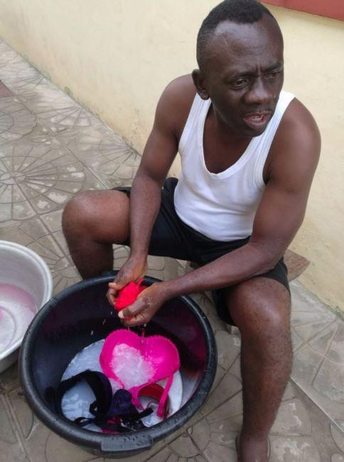 Photos: Akrobeto washing Wife's Underwear Sets Social Media On Fire