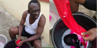 Akrobeto washing Wife Underwear