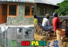 Men Build Houses With An Empty Plastic Bottles