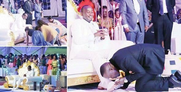 Pastor Orders Church Members To Kiss His Feet