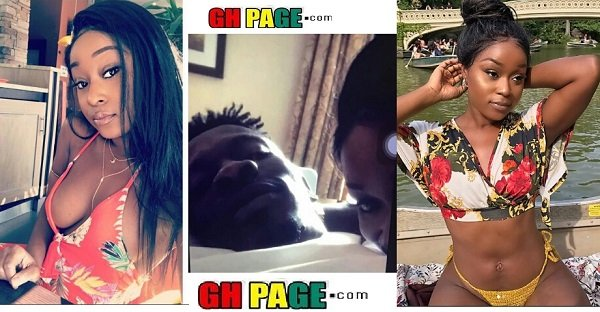 Efia Odo, the lady who was captured in bed with Shatta Wale finally breaks silence