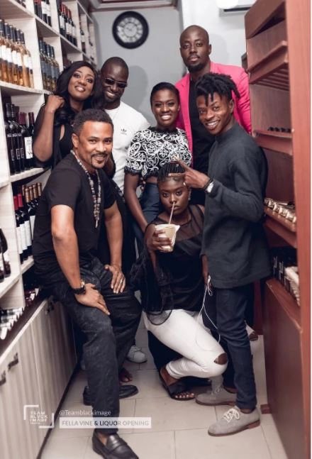 Fella Makafui opens wine and liquor shop at East Legon American house