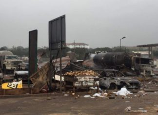 Photos from the atomic gas explosion a day after (Aftermath Morning Photos)