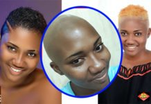 PHOTOS: Abena Korkor goes bald to mark a fresh beginning of her life