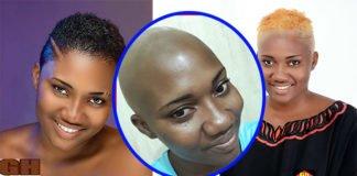 PHOTOS: Abena Korkor goes bald to mark a fresh beginning of her life