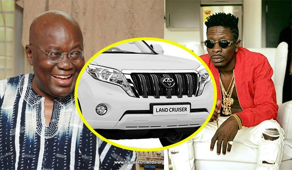 Shatta Wale asks Akufo-Addo for a Landcruiser when he visits