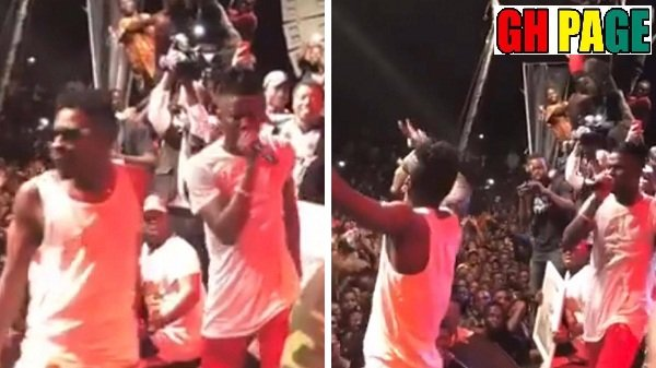 Videos: This Is What Happened When Shatta Wale Jumped On Stage With Stonebwoy At the Ashaiman Concert