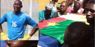Burkinabé goalkeeper Soulama Abdoulaye buried today
