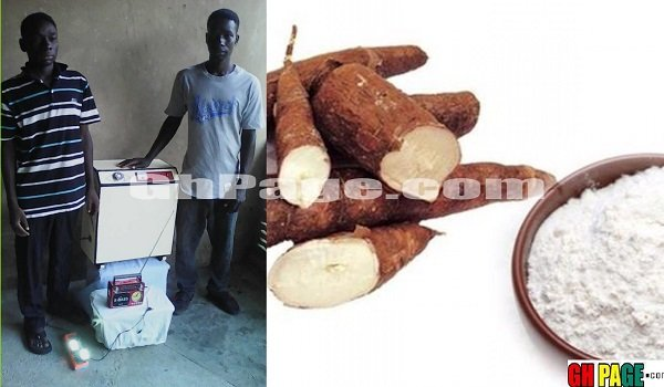Photos+Video: These two Ghanaian Brothers In Koforidua Have Built a 'Starch Machine' which uses Cassava to generate electricity
