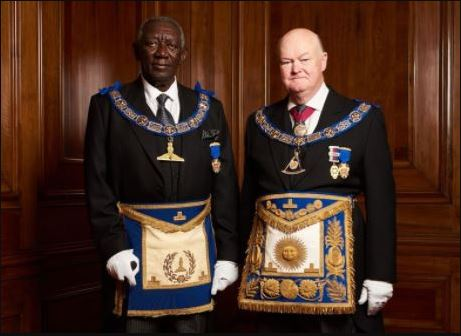 Asantehene And Ex-President Kuffuor Attended A Grand Freemasons Meeting In London