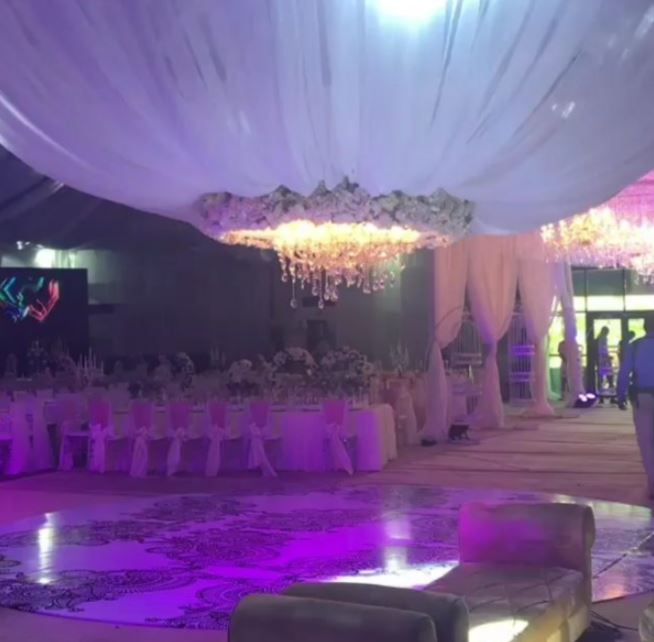 Photos video of banky w and adesua etomi 39 s traditional wedding for Where can i find wedding decorations