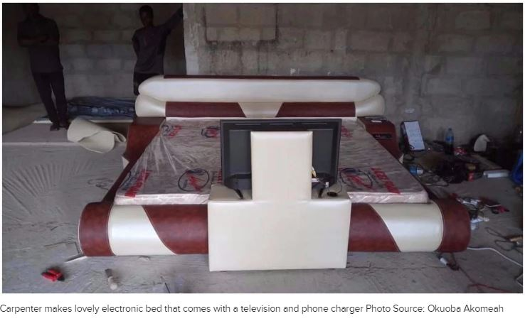 Ghanaian Carpenter Makes An Amazing Electronic Bed