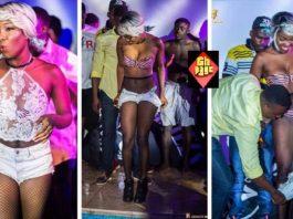 Huh!: Ghanaian Singer, Feli Nunu Strips Naked For Male Fans [Photos]