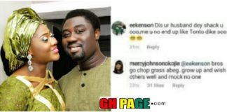 Nigerian versatile actress, Mercy Johnson has reacted weirdly to a fan who replied to her post on Instagram saying, she shouldn't end up like Tonto Dike