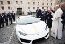 Pope Francis Plan To Auction His Lamborghini