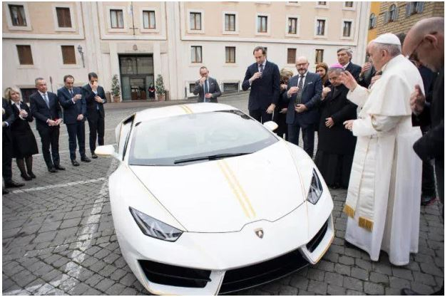 Pope Francis Plan To Auction His Lamborghini
