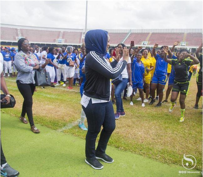 Samira Bawumia Shows Off Her Soccer Skills At The Women Organized Football Festival