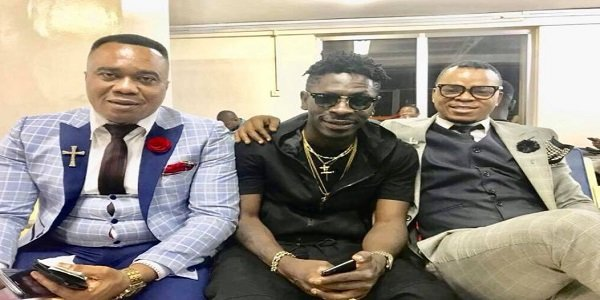 Bishop Obinim and Shatta Wale Seen Having Fun