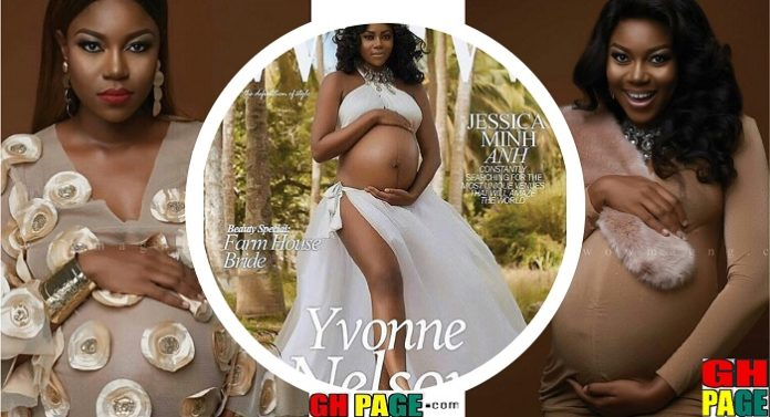 Photos: Yvonne Nelson unveils pregnant photos on her birthday