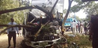 Truck driver narrowly escapes death after accident (Photo)