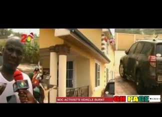 """Video:""""A common serial caller could buy and build this Porsh car and mansion""""?- Social media reacts to Appiah Stadium Burnt house and Car"""