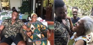 Man's Not Hot rapper Big Shaq returns to Ghana after 9 years - Shares an emotional moment with his grandmum (Photos+Video)