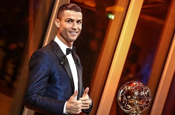 Real Madrid star Cristiano Ronaldo wins 2017 Ballon d'Or
