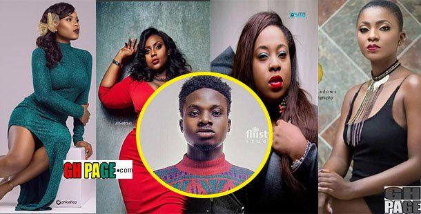 Video: Kuami Eugene gives his very top 5 beautiful Ghanaian female celebrities he will like to have 'fun' with