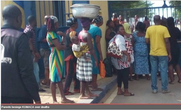 Angry Parents Rage Kumasi Academy Campus Over Students Death