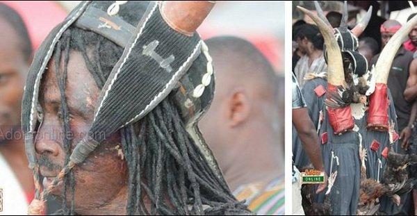 Kwaku Bonsam steals show at Asantehemaa's funeral (Photos)