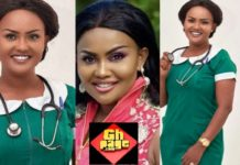 Lovely Photos Of Nana Ama Mcbrown In Nursing Uniform Has Raised Many Eyes On The Internet And Its Perfect With Her(Photos)