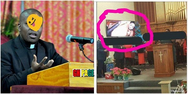 Photos: Pastor took the wrong pendrive and mistakenly shows hot p0rn to church members