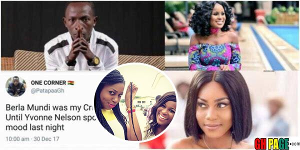 Twitter Handle: Patapaa Claims Berla Mundi was his crush until Yvonne Nelson spoiled his mood with her exposé