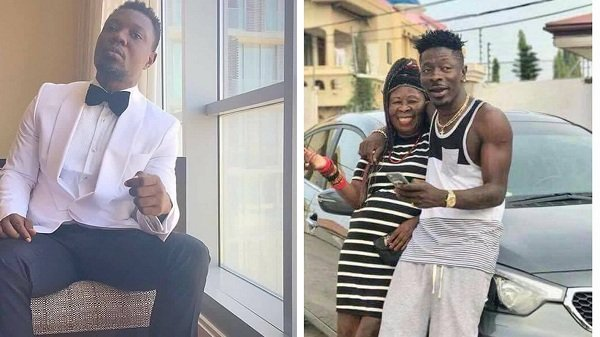 """Shatta Wale's mum looks like his father wearing a wig"