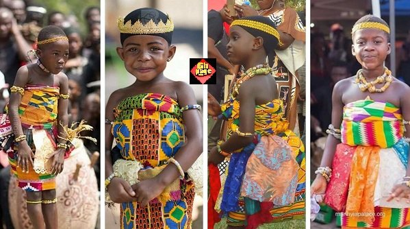 Pretty Young Adowa Girls Steal Show At Asantehemaa's Funeral [Photos]