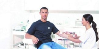 Photos: Real Madrid Super Star Cristiano Ronaldo Donates Blood To Save Lives