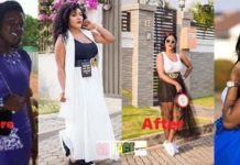 Huh: The before and after bleached photo of A-Plus' wife, Akosua Vee pops up on Social Media