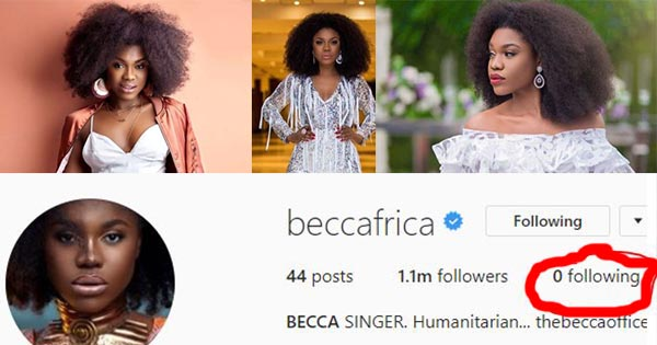 Becca follows Christabel Ekeh's step as she unfollows everyone on Instagram