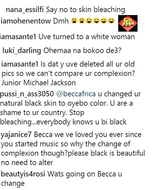 Becca Trolled Under Her Own Post For 'Over-Bleaching' Her Body