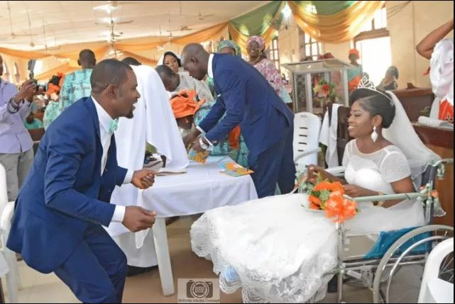 Bride Leaves Hospital Ward In A Wheelchair To Have Her Wedding