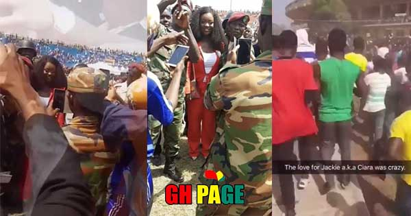 Jackie Appiah causes Confusion at George Weah's inauguration (Video)