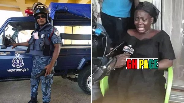 Kwabenya police station attack: Wife of the killed officer has this to say about her husband's death