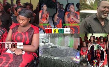 Photos+ Video: Maame Serwaa's Mother Laid to rest today at Atwima Koforidua (Photos+Video)