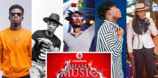 These are the five artist who have been nominated for 2018 VGMA Artiste of the Year